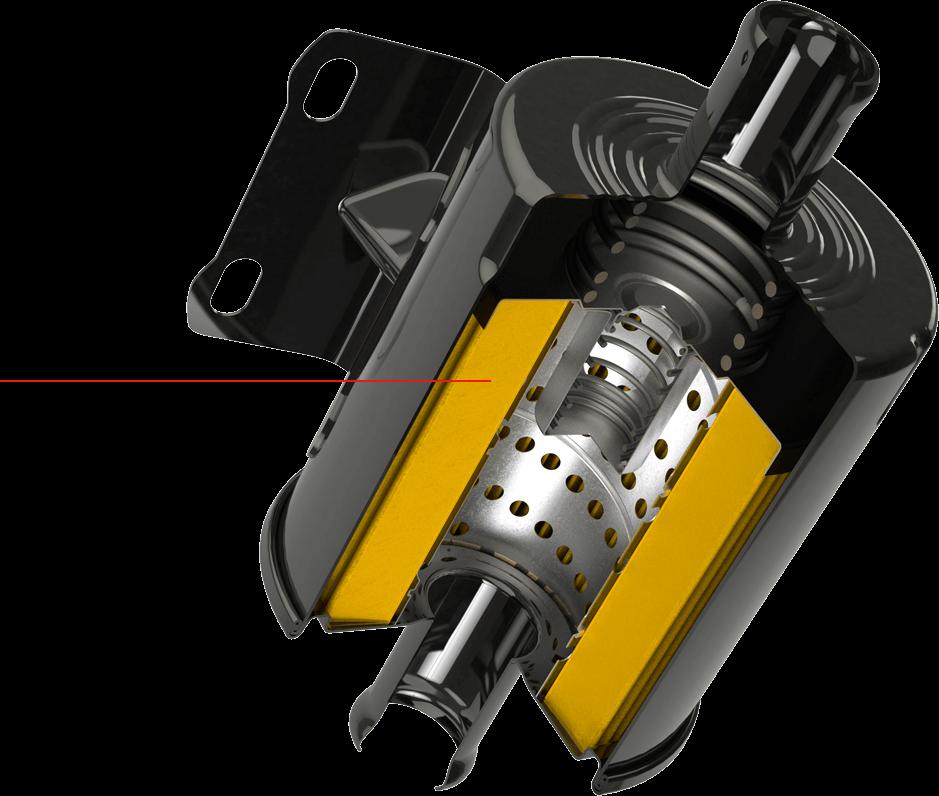 Black Casing Cut out Hydraulic Filter