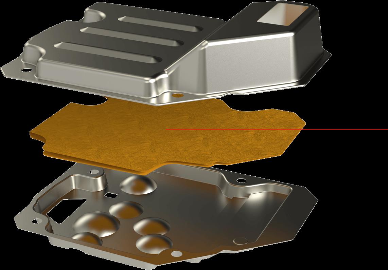 Exploded Metal Transmission Filter