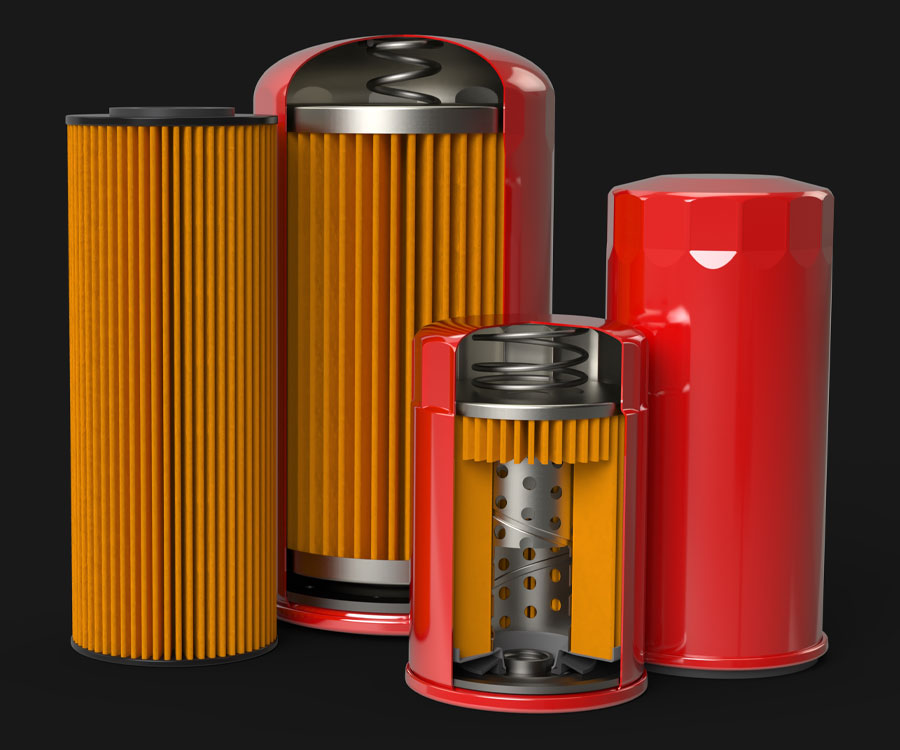 Group Shot Oil Filters