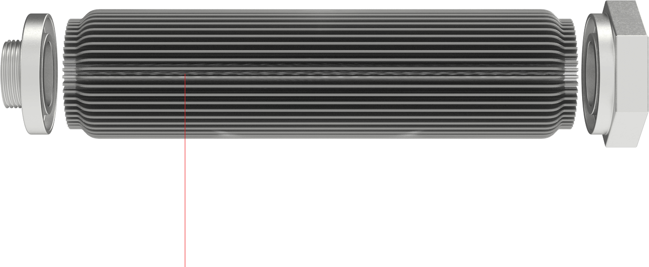 Full Width Sintered Filter