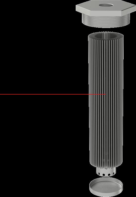 Right Aligned Sintered Filter